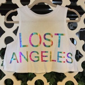 """Lost Angeles"" Crop Tank"